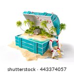 fantastic tropical island with... | Shutterstock . vector #443374057