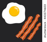 vector stock of egg and bacon... | Shutterstock .eps vector #443374603