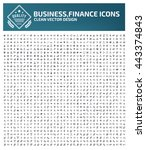 big icon business and office... | Shutterstock .eps vector #443374843