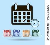 calendar flat icon   vector | Shutterstock .eps vector #443385307