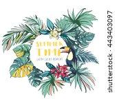 vector illustration tropical...   Shutterstock .eps vector #443403097