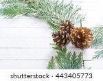 christmas decoration background ...   Shutterstock . vector #443405773