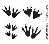 dinosaur footprint tracks... | Shutterstock .eps vector #443430397