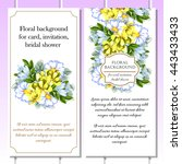 vintage delicate invitation... | Shutterstock .eps vector #443433433