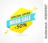sale sign banner poster ready... | Shutterstock .eps vector #443434507