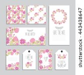 elegant cards and gift tags... | Shutterstock .eps vector #443438647
