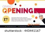 grand opening horizontal banner.... | Shutterstock .eps vector #443441167