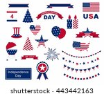 usa celebration flat national... | Shutterstock .eps vector #443442163