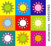 sun sign. pop art style...