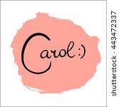 carol. vector illustration.... | Shutterstock .eps vector #443472337