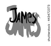 james. vector illustration.... | Shutterstock .eps vector #443472373