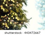 closeup of christmas tree | Shutterstock . vector #443472667