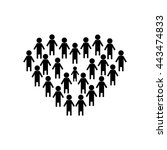 people icon  people icon vector  | Shutterstock .eps vector #443474833