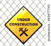 Vector Under Construction Sign...