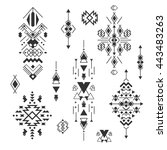 vector tribal elements  ethnic... | Shutterstock .eps vector #443483263