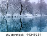 Blue River In Winter Time