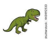 dinosaur tyrannosaurus rex.... | Shutterstock .eps vector #443492533