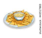 nachos color picture sticker | Shutterstock .eps vector #443517883