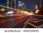 empty road surface floor with... | Shutterstock . vector #443524693
