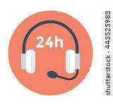 headphones vector icon   Shutterstock .eps vector #443525983