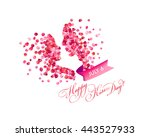 july 6   happy kiss day | Shutterstock .eps vector #443527933