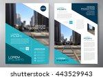 business brochure flyer design... | Shutterstock .eps vector #443529943