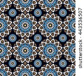 seamless pattern. vintage... | Shutterstock . vector #443536507