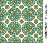 seamless pattern. vintage... | Shutterstock . vector #443537803