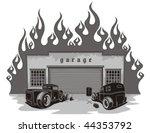 Rat Rods Garage. Vector...