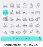set of transportation icons.... | Shutterstock .eps vector #443557327