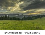 evening time in the mountains.... | Shutterstock . vector #443565547