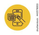 mobile applications vector line ... | Shutterstock .eps vector #443578003