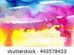 macro wash watercolor... | Shutterstock . vector #443578423