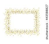 golden splash or glittering... | Shutterstock .eps vector #443588827
