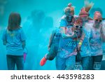 Small photo of Prague, Czech Republic - May 21 2016: People participating in the Color Run. The Color Run is a worldwide hosted 5K fun race