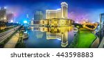 cityscape of macao at night.... | Shutterstock . vector #443598883