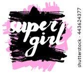lettering phrase slogan on... | Shutterstock .eps vector #443624377