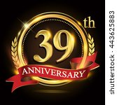 39th golden anniversary logo ...   Shutterstock .eps vector #443625883