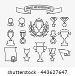 awards and achievements. vector ... | Shutterstock .eps vector #443627647