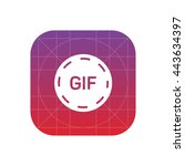 gif animation button icon | Shutterstock .eps vector #443634397