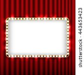 theater scene with red curtain... | Shutterstock .eps vector #443653423