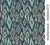 ethnic pattern. tribal doodles... | Shutterstock .eps vector #443661373