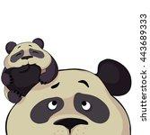 panda  family. cute cartoon...   Shutterstock .eps vector #443689333