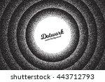 vector retro style dotwork... | Shutterstock .eps vector #443712793