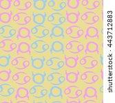 seamless  pattern of zodiac... | Shutterstock . vector #443712883