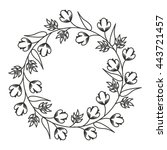 flowers wreath isolated icon... | Shutterstock .eps vector #443721457