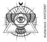 Esoteric Symbol  Winged Pyrami...