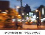 motion blurred   street view of ... | Shutterstock . vector #443739937