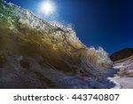 an ocean shorebreak in front... | Shutterstock . vector #443740807