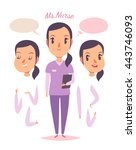 medical staff character. young... | Shutterstock .eps vector #443746093